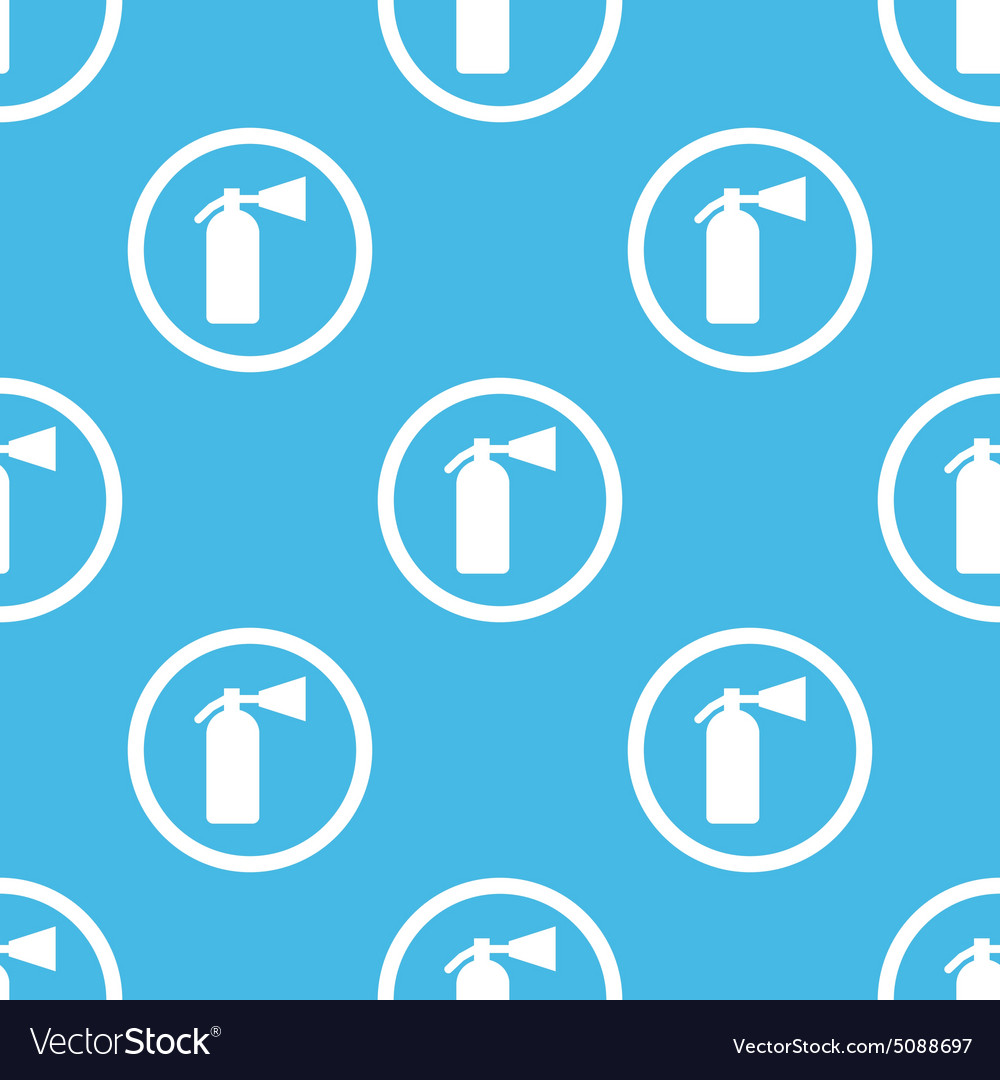 Fire extinguisher sign blue pattern vector