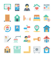 Real Estate Colored Icons 5 vector image