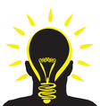 lightbulb profile vector image vector image