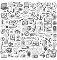 websocial media devices - doodles vector image vector image