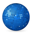 abstract ball blue with stars vector image