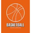 Basketball design over orange background vector image