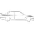 BMW E30 M3 vector image