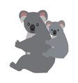 cartoon koala with baby vector image