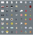 flat modern icons set Eps 10 vector image