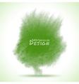 Green Watercolor splatter vector image