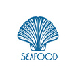 seafood with shell vector image