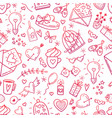wedding and valentines day icons vector image
