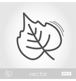 Autumn Leaves poplar outline icon vector image