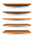 Wood shelves set vector image
