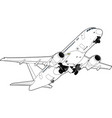 modern russian airliner vector image