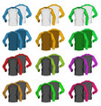 long sleeve blank two colored t-shirt template vector image vector image