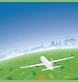 salzburg skyline flight destination vector image