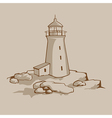 Rock Lighthouse vector image