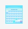 Design schedule monthly december 2014 calendar vector image