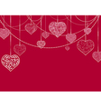 Flat StValentine and Wedding Holiday Background vector image vector image