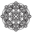 black ornamental mandala vector image