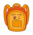 school bag comic character vector image