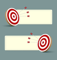 target arrows banners vector image