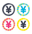 yen sign icon jpy currency symbol vector image