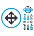 Direction Variants Flat Icon with Bonus vector image