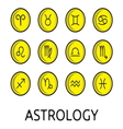 Zodiac button collection vector image vector image