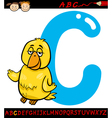 letter c for canary cartoon vector image vector image
