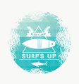 Surf camp vector image