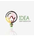 Logo light bulb abstract linear geometric vector image