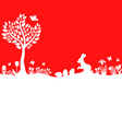 easter meadow red vector image