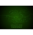 Dark green technology circuit board background vector image