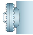 Manhole side view vector image