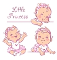 Little baby girl set vector image