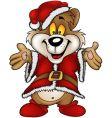 Christmas happy bear vector image vector image