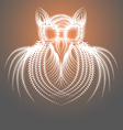Abstract Drawing of the Owl vector image