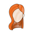 profile woman young head avatar people vector image