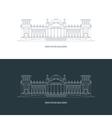 Reichstag building logo concept vector image