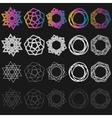 set of outline emblems and badges - vector image