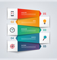 paper arrows for infographics 5 option template vector image vector image