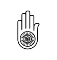 Symbol of Jainism- Ahimsa vector image