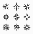 Wind rose icons vector image