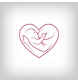 Breast feeding heart shaped sign vector image