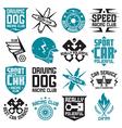 Vinyl stickers on car vector image