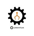 Color robot industry logo vector image