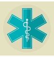 caduceus icon design vector image