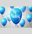 blue balloons with an inscription big sale forty vector image