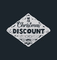 christmas discount lettering and typography vector image
