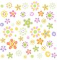Cute floral ornament vector image