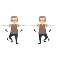 Exercise set for olders vector image