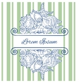 Greeting Card Design Template Eps 10 vector image